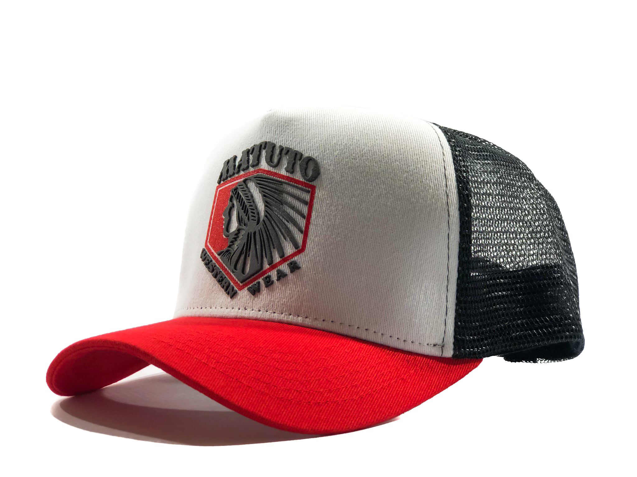 Matuto Red White Indian Trucker
